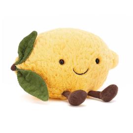 Jellycat Knuffel Citroen, Amuseable Lemon, Small