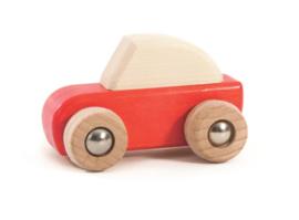 Bajo Houten Pullback auto, rood