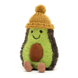 Jellycat Knuffel Avocado, Amuseable Cozi Avocado Mustard, 20cm