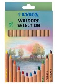 Lyra Kleurpotloden Super Ferby ongelakt Walfdorf selection, 12 stuks