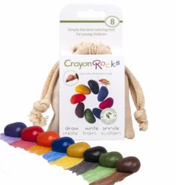 Crayon Rocks, 8 kleuren in katoenen zakje