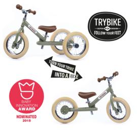 Trybike Steel loopfiets vintage groen
