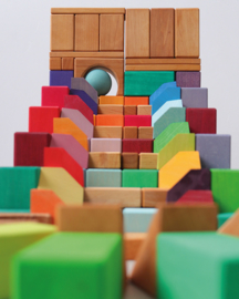 Grimm's houten blokkenset Hoekstenen