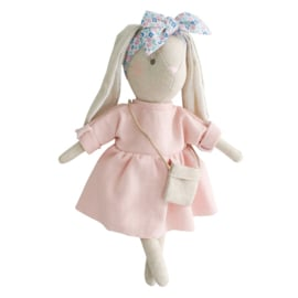 Alimrose Knuffel Konijn, Mini Sofia Bunny Pink, 27 cm