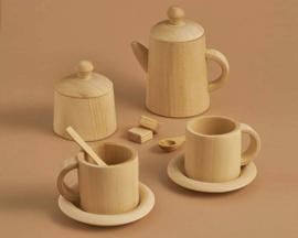 Raduga Grëz Houten Theeservies, Tea Set, Naturel