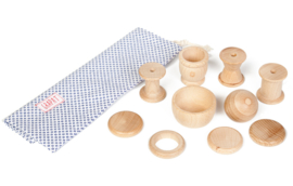 Grapat Naturel houten vormen, Treasure Basket, 10-delig