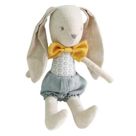 Alimrose Knuffel Konijn, Baby Boy Bunny Grey Butterscotch, 26 cm