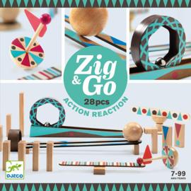 Djeco Zig & Go, Actie-Reactie-Baan, 28-delig