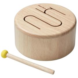 Plan Toys Houten Trommel, Solid Drum, Naturel