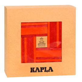 Kapla 40 plankjes oranje en rood met voorbeeldboek