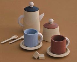 Raduga Grëz Houten Theeservies, Tea Set, Terra / Blauw
