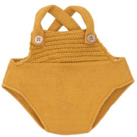 Olli Ella Romper voor Dinkum Doll - Mosterd geel
