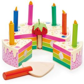 Verjaardagstaart Regenboog - Tender Leaf Toys