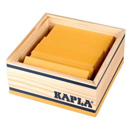 Kapla 40 plankjes in kistje, geel