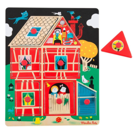 Moulin Roty houten knoppuzzel Les Bambins