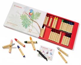 Stockmar Bijenwaskrijtjes, stiftjes 32 kleuren in doosje