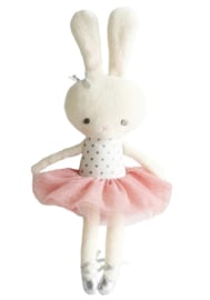Alimrose Knuffel Konijn, Hannah Ballerina Silver Blush, 30 cm