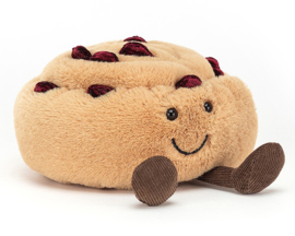 Jellycat Knuffel Broodje, Amuseable Pain Au Raisin, 12cm