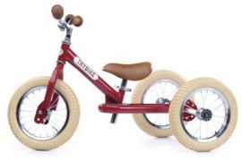 Trybike Steel 2-in-1 loopfiets vintage rood