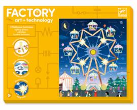 Djeco Factory Elektro Art Kaarten, Kermis, 8+