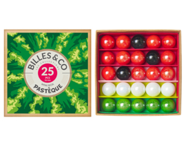 Billes & Co Knikkers in doosje, Mini Box Pasteque/Meloen, 25 stuks