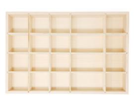 Grapat Houten Letterbak/Sorteerbak, Tinker Tray, 44 x 29,5 cm