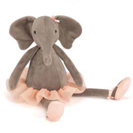Jellycat Knuffel Olifant 33 cm, Dancing Darcey Elephant