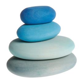Grimm's bouwset 4 houten stenen, Rivier/Blauw