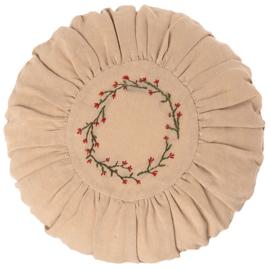 Maileg Kussen Roze, Cushion Round Flower Circle, diameter 26cm