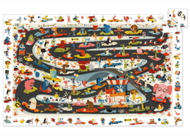 Djeco Ontdek Puzzel 'Autorace', 54 st, 61x38 cm