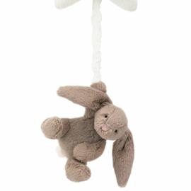 Jellycat Muziekdoosje Konijn, Bashful Beige Bunny Star