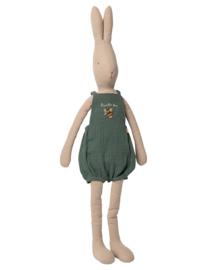 Maileg Rabbit Size 5 in Tuinbroek Groen, 78 cm