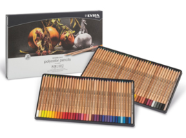 Lyra Rembrandt Polycolor kleurpotloden 72 stuks met 2 splenders + Gratis puntenslijper