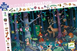 Djeco Ontdek Puzzel 'Betoverd Bos', 100 st, 61x38 cm