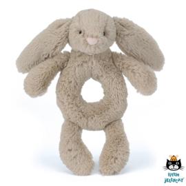 Jellycat Rammelaar Konijn 18cm, Bashful Beige Bunny Grabber