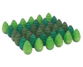 Grapat Mandala Bomen Groen, 36 stuks