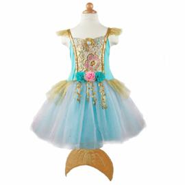 Zeemeermin Jurk met staart, Mermalicious Dress, 5-6 jaar
