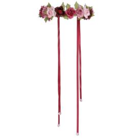 Diadeem / Bloemenkrans met rozen