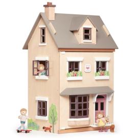 Poppenhuis Villa Foxtail met meubeltjes - Tender Leaf Toys