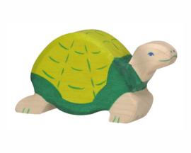 Holztiger Houten Schildpad groen