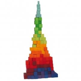 Grimm's houten blokkenset Trapsgewijs 100-delig, 22,5 x 22,5