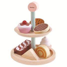 Plan Toys etagere met gebak