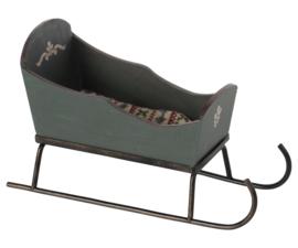 Maileg Slee Groen, Sleigh Mouse