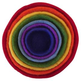 Papoose Stapelbakjes, Wolvilt, diameter 20 cm, hoogte 13 cm