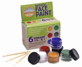 Natural Earth Paint, Face Paint, Schminkset 6 kleuren