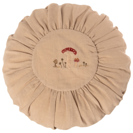 Maileg Kussen, Cushion Round Large sand Mushrooms, diameter 40cm