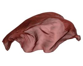Sarah's Silks Speelzijde, Bruin, 89 x 89 cm