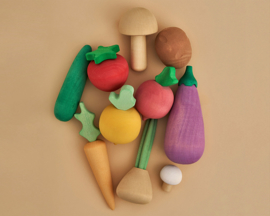 Raduga Grëz Houten Groenten Set, 10-delig