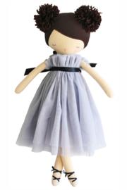 Alimrose Knuffelpop, Ruby Pom Pom Doll Lavender, 48 cm