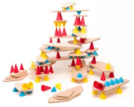 Oppi Piks balans bouwset - Education Kit 128-delig